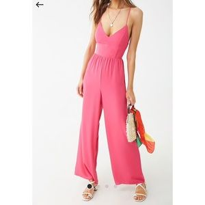NWTs Fuchsia Pink Jumpsuit Long Size Small